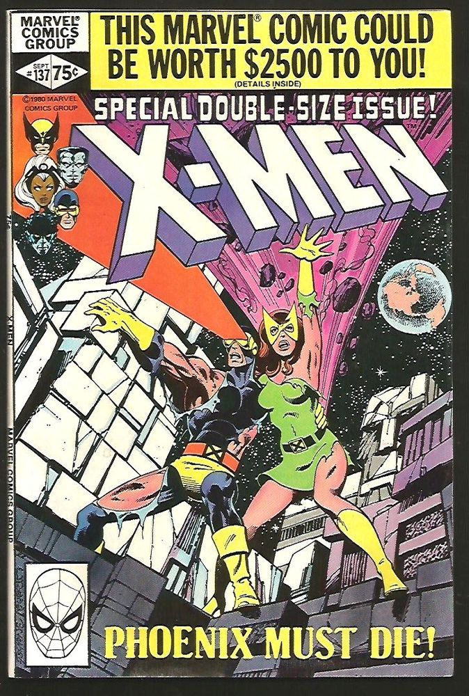 The Uncanny X Men 137 John Byrne 1st Series Doublesize Vf Nm Phoenix Must Die Xmen Comics Comic Book Covers