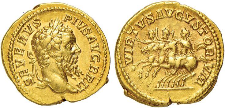 NumisBids: Nomisma Spa Auction 50, Lot 30 : ROMA IMPERO Settimio Severo (193-211) Aureo - Testa laureata a d. –...