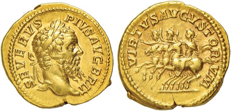 NumisBids: Nomisma Spa Auction 50, Lot 30 : ROMA IMPERO Settimio Severo (193-211) Aureo - Testa laureata a d. –...