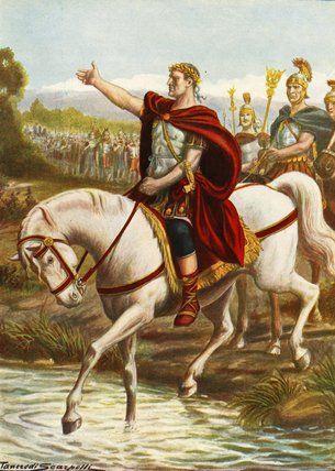 Crossing the Rubicon- Julius Caesar War Painting