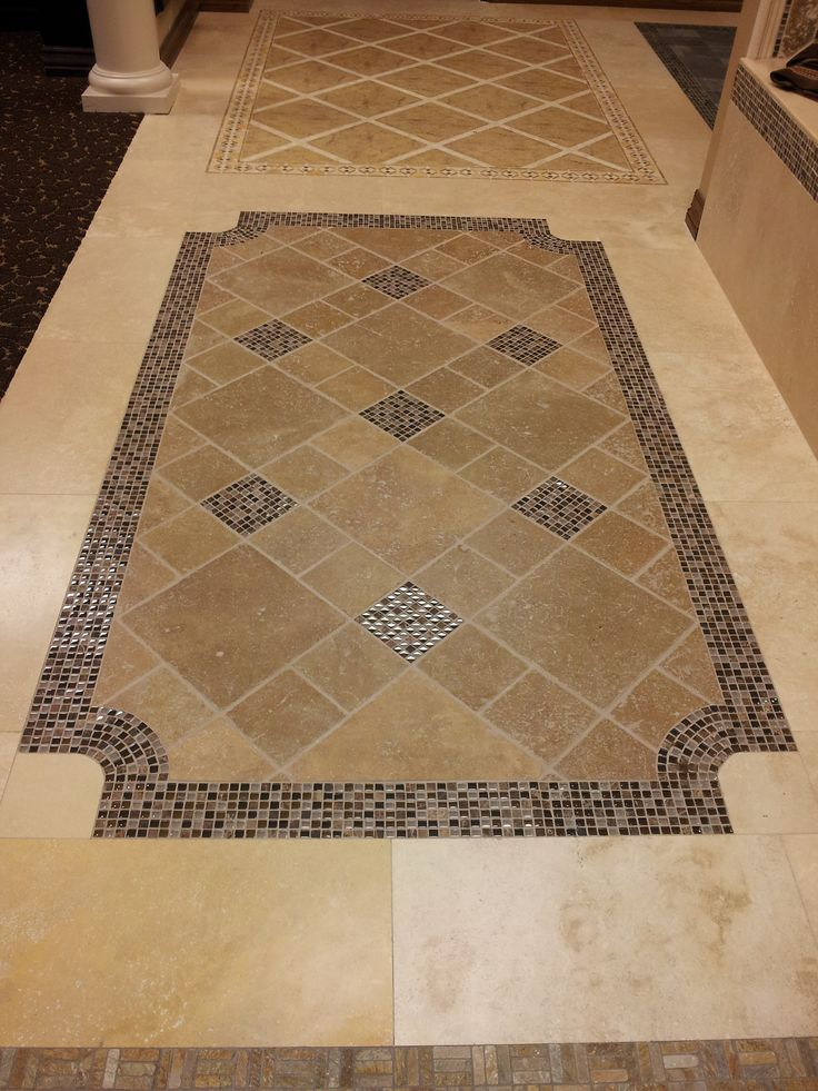Tile floor design idea tile pinterest entry ways for Floor decoration ideas