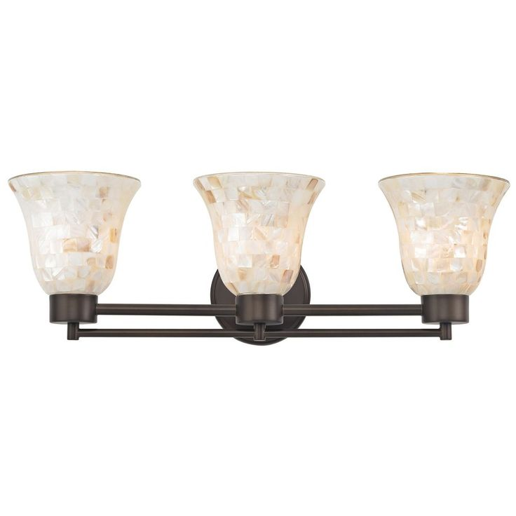 Design Classics Lighting Bathroom Light with Mosaic Glass Glass in Neuvelle Bronze Finish 703-220 GL9222-M