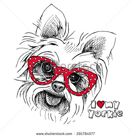 yorkshire terrier dog portrait | Cute Cartoon Yorkshire Terrier Stock Photos, Illustrations, and Vector ...