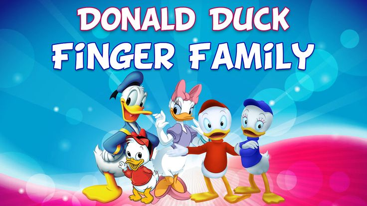 Donald Duck Finger Family