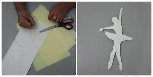 Resultado de imagem para molde de bailarina