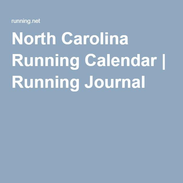 North Carolina Running Calendar | Running Journal