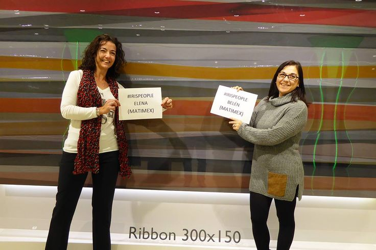 Elena and Belen from Matimex, Spain #irispeople