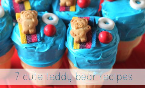 Cute Kids Recipes | Teddy Bear Recipes | Teddy Foods | Teddy Recipes - Family eating  ☜♥☞ tiny teddy racing cars, tiny teddy trains...☜♥☞