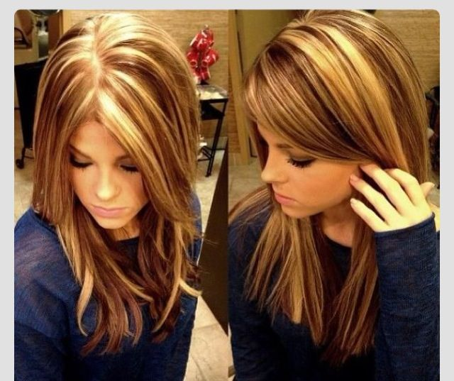 Need A New Hairstyle: Brunette With Blonde Highlights