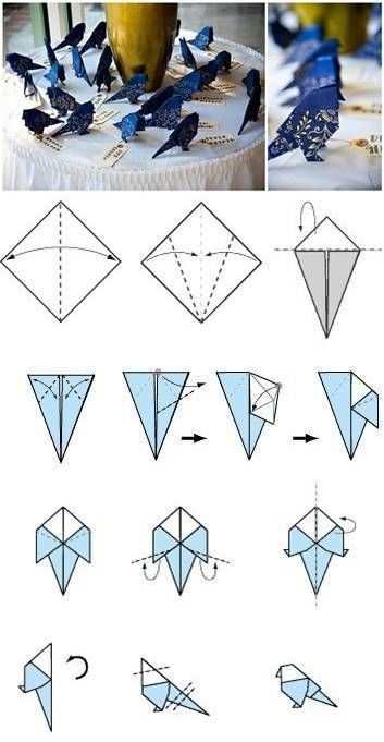 How-To-Make-Origami-Birds diy crafts diy crafts how to tutorial paper crafts origami