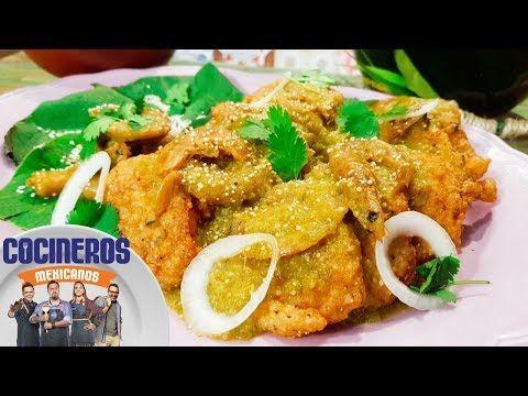 Receta: Tortitas de amaranto con camarón seco en salsa verde   Cocineros Mexicanos - YouTube