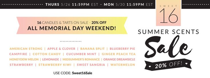 Peggy Arnold's Store - Louisiana   Sweet 16 Summer Scents Sale