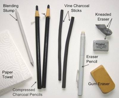 Charcoal drawing tutorials show you to how to draw using traditional charcoal media.