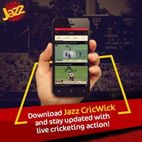 Mobilink Jazz Cricwick Mobile APP for Cricket streaming http://ift.tt/2e5Tvec
