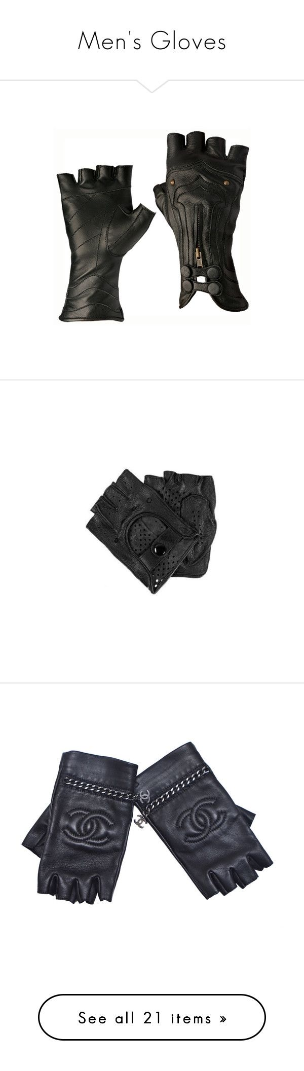 """""""Men's Gloves"""" by servayne ❤ liked on Polyvore featuring accessories, gloves, steampunk, luvas, steampunk leather gloves, steampunk gloves, leather gloves, men, chanel and lambskin leather gloves"""
