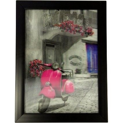 Iconic 3D Picture - Pink Vespa Price: 7.95 GBP