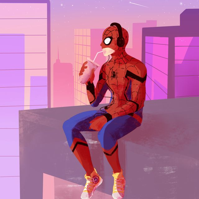 Spider-Man Homecoming art by @My-wayward-son-carry-on