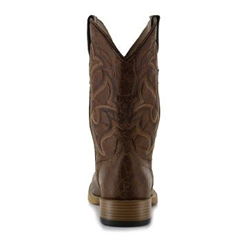 Roper Men's Distressed Broad Square Toe Western Boots