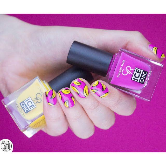 fall in ...naiLove!: Banana nails: tutorial. | Golden Rose ICE CHIC.