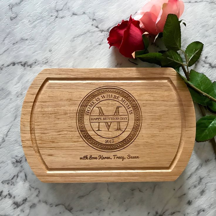 Personalised Mothers Day Cheese Board with Knives Set