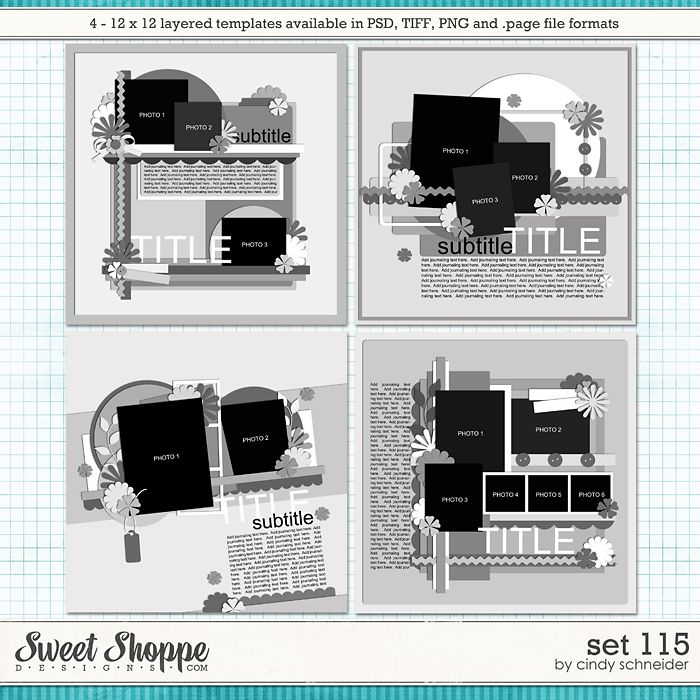 Cindy's Layered Templates - Set 115 by Cindy Schneider