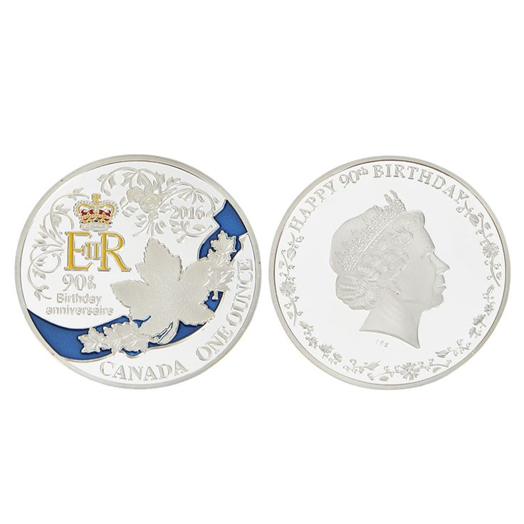 EZLIFE Hot 2016 United Kingdom Queen Silver coin/copy coins euro/dollar/commemorative coin values BTC011