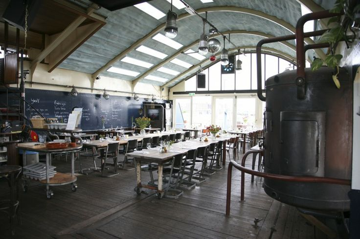 floating restaurant- Open kitchen and great atmosphere @ restaurant Pont 13 | #Amsterdam West