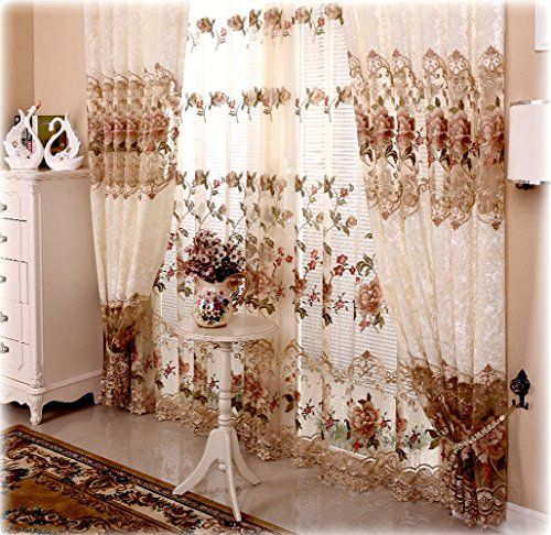 Gathered Top Curtains Living Room  X