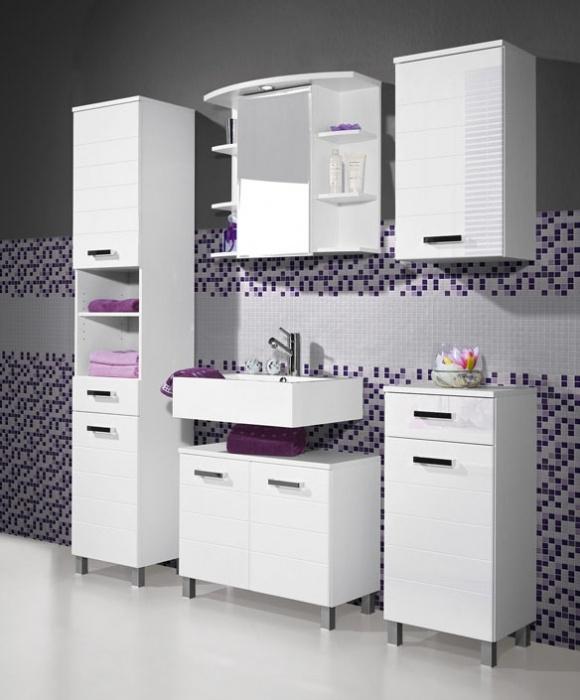 EDITA Badezimmer 5-tlg. Weiss - viel Stauraum und ein modernes Design #bad
