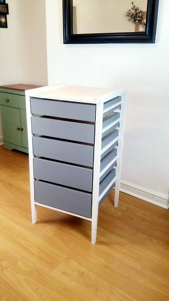 Made entirely of solid wood, this handmade chest of drawers with graduated drawers.  The chest is made of 100% timber, handcrafted using quality joints with no screws and no metal runners.  Item pictured is painted in Annie Sloan chalk paint and finished with wax, although can be painted in