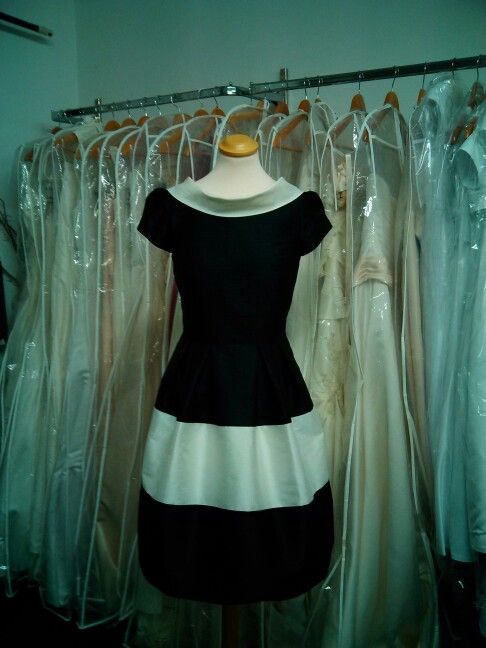 Black and ivory dress #exclusive design by Geraldine Omeara Designs