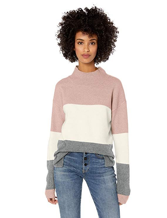 Jason Maxwell Womens Long Sleeve Mock Neck Pullover Sweater