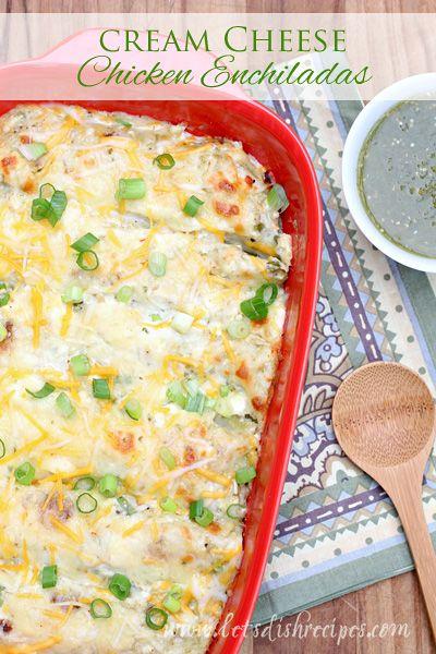 Cream Cheese Chicken Enchiladas | Let's Dish Recipes