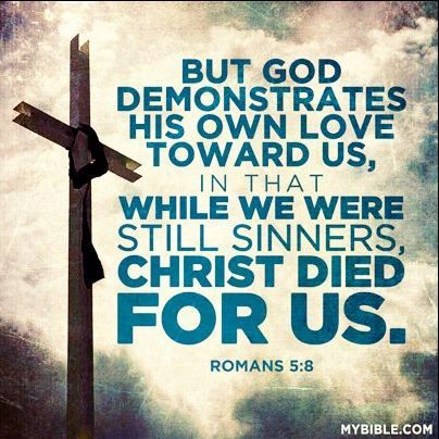 Image result for While we were still sinners, Christ died for us