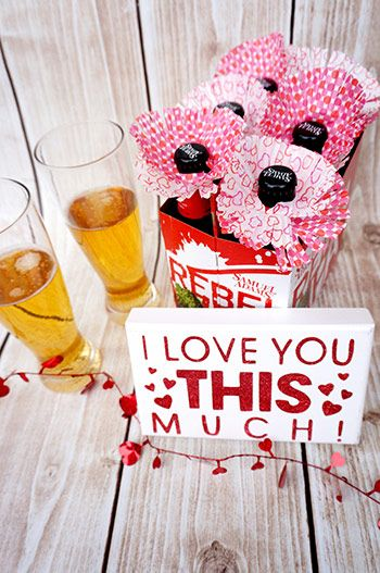 diy valentine's day beer labels