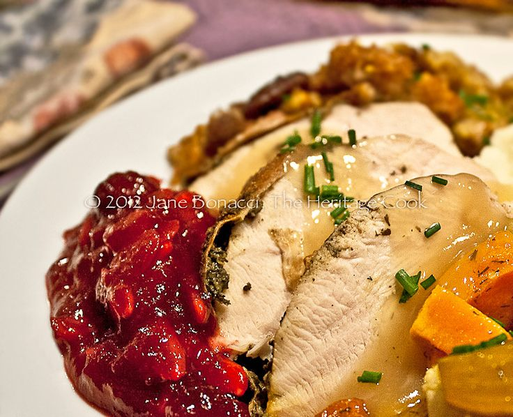 How to make the perfect Thanksgiving turkey and my favorite side dishes today at The Heritage Cook!