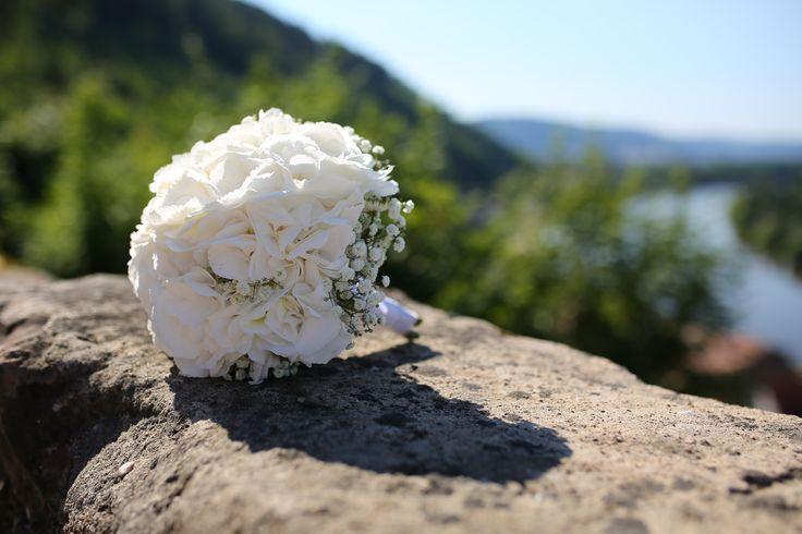 Brautstrauß, Hortensien