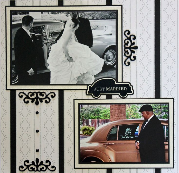 Wedding scrapbook layout :-)