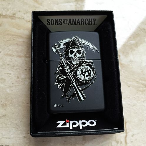 Zippo Sons Of Anarchy Black Matte Grim Reaper Lighter