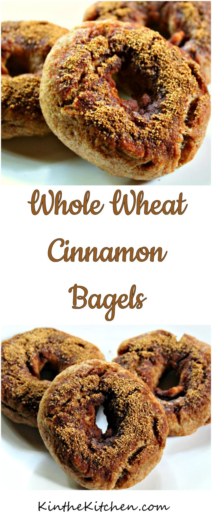 Made with whole wheat flour and containing no refined sugar, these Cinnamon Bagels also have a little almond flour for added protein and make for a filling breakfast.