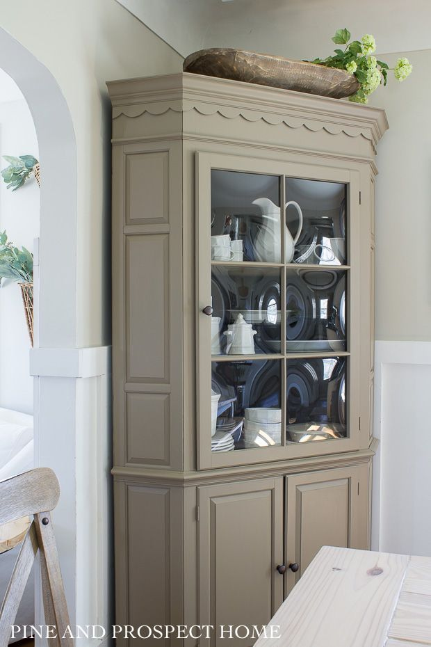 Pin On Home Decor Inspiration Instagram Cottage style dining room hutch