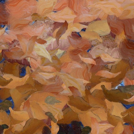 Four Seasons  Autumn abstract canvas print by ArtbyOlafur on Etsy, $54.00