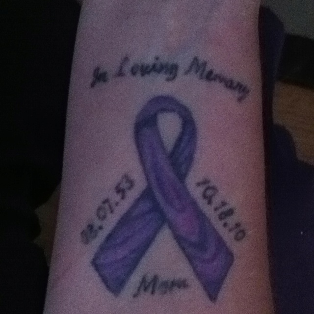 Tattoo I got in support and memory of my momma....Suffered and passed away from Pancreatic Cancer. RIP mom xoxoxo. I love this idea!!! I just found my next tattoo!!