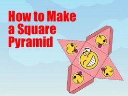 Square Pyramid - How to Make a Square Pyramid - a Printable 3d Net