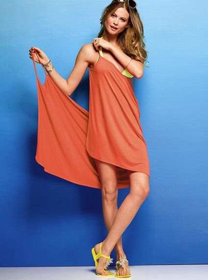 rectangle with two arm holes... easy beach cover-up