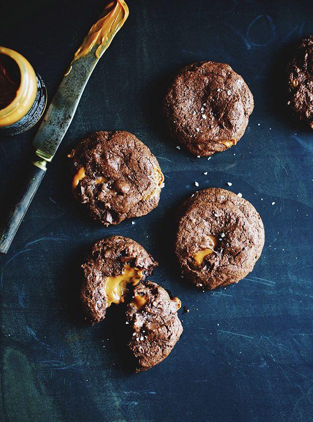 caramel cookies with sea salt.
