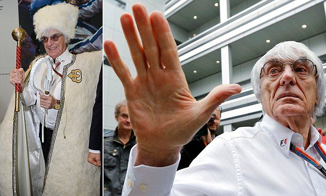 Formula 1's Bernie Ecclestone dons Cossack garb at Russian Grand Prix