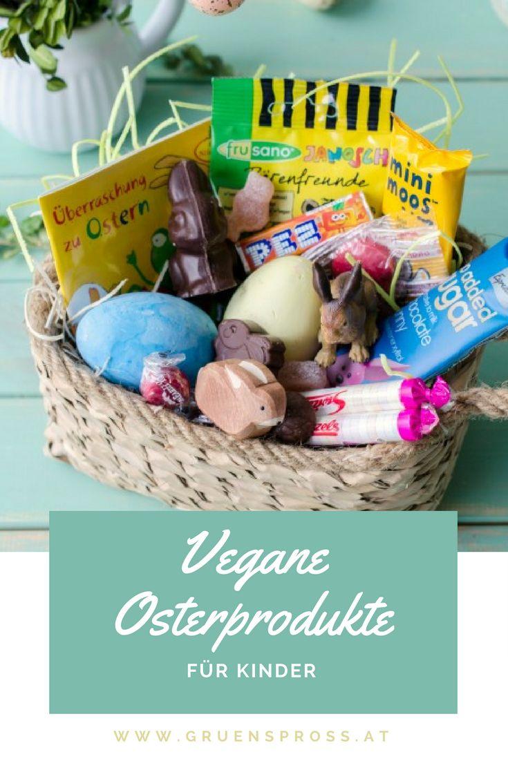 Vegane Osterprodukte für Kinder - damit das vegane Osternest nicht leer bleibt! Von Mannerschnitten bis Pez Zuckerl, vom veganen Osterhasen bis zu Geleeeiern ist alles dabei was das Kinderherz begehrt.