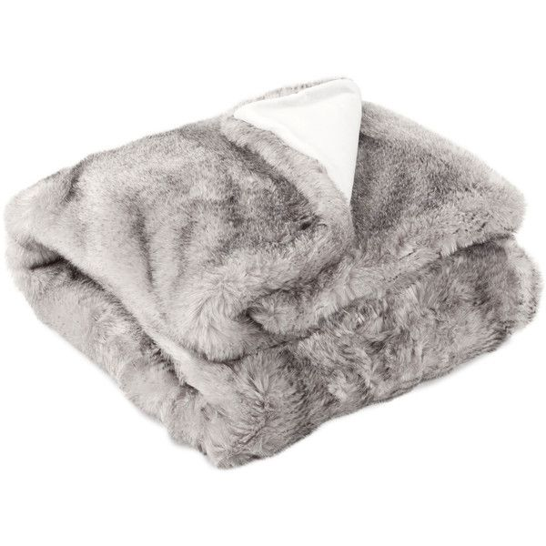 Zara Home Striped Fur Throw ($90) ❤ liked on Polyvore featuring home, bed & bath, bedding, blankets, home stuff, other, grey, striped throw blanket, gray blanket and gray throw