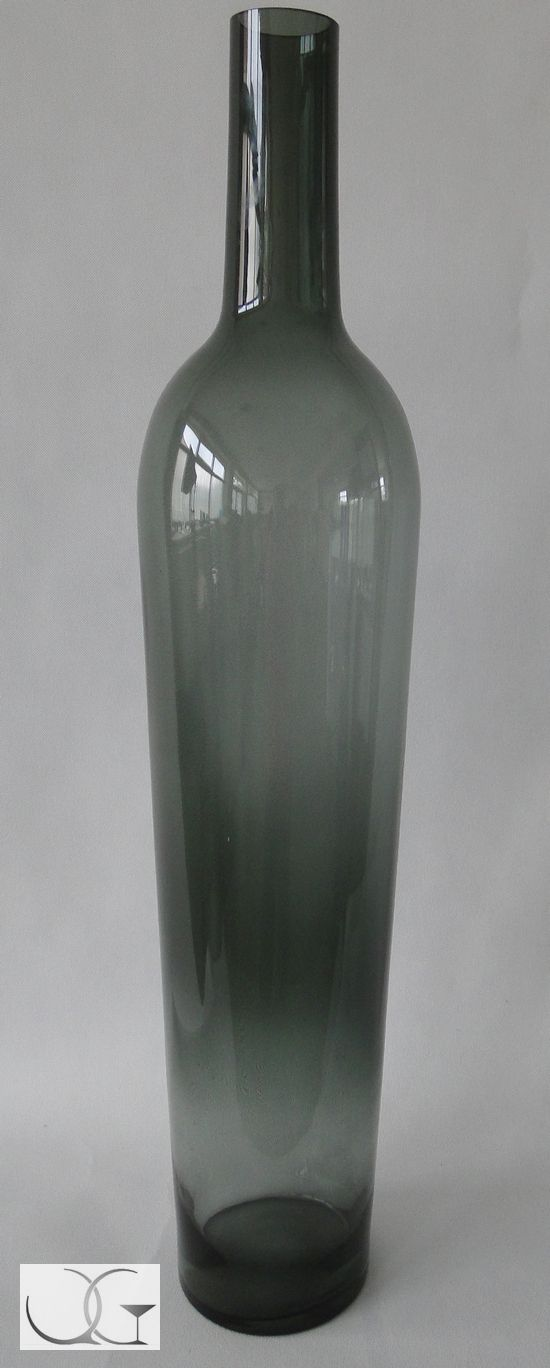 Wazon szklany Butelka dymiony popiel h-130